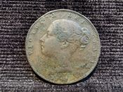 Victoria, Young Head Farthing 1843, Fair, AD313